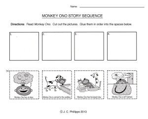 monkey ono story sequence j c phillipps. Black Bedroom Furniture Sets. Home Design Ideas