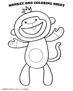 MonkeyOnoColoringPage