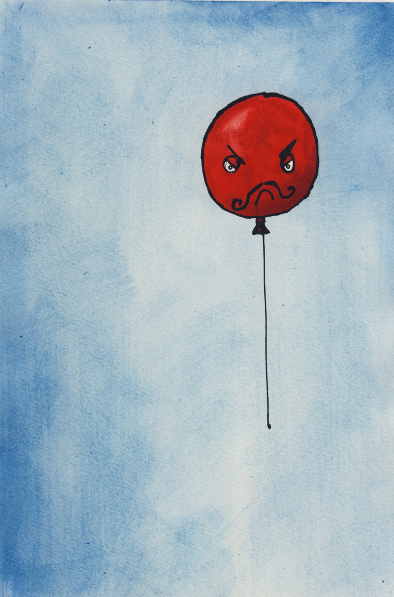 Bad Balloon is very naughty.