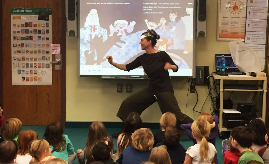 Author J. C. Phillipps doing ninja poses.