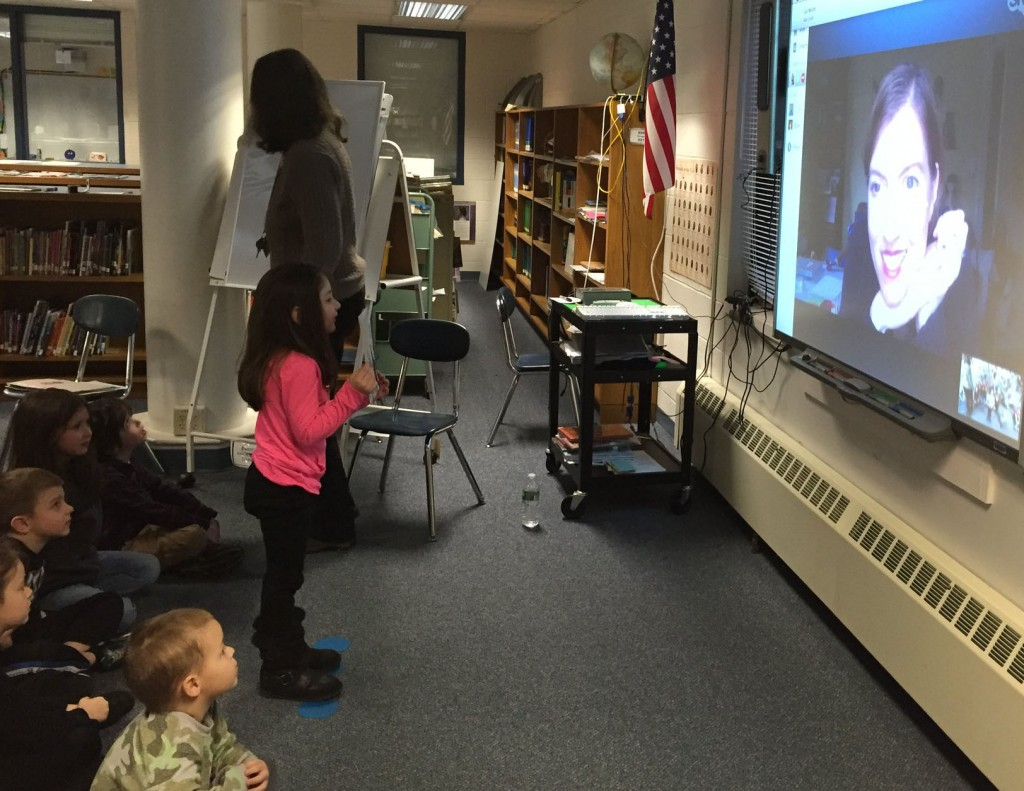 I'm Skyping with Kindergartners for World Read Aloud Day!