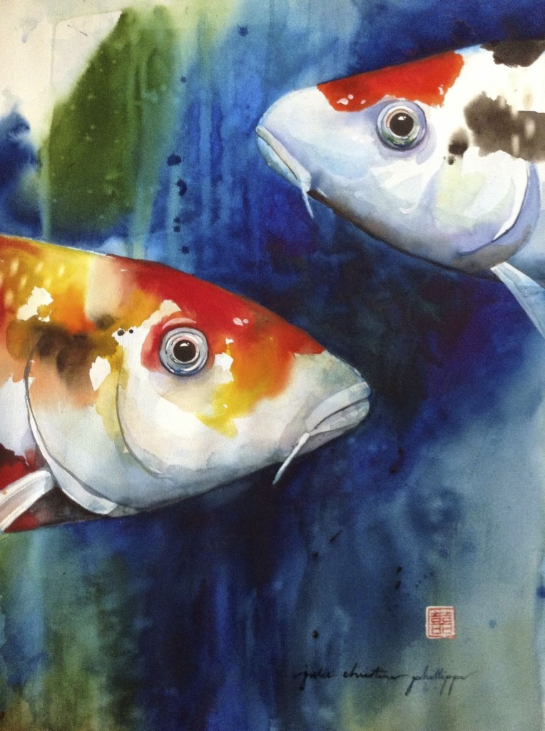 Pair of Koi    J. C. Phillipps 2015