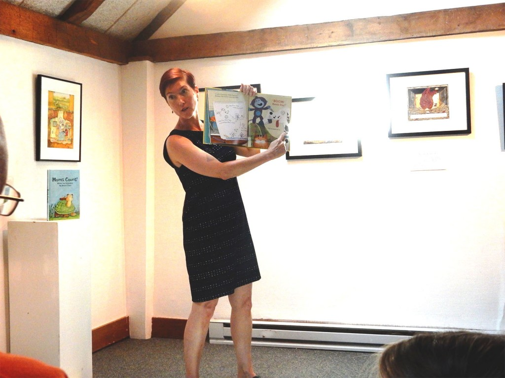 J. C. Phillipps reads her book, Monkey Ono at the West Hartford Art League.
